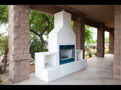 RTF Modular Outdoor Fireplace Kit
