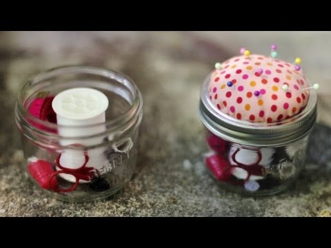 DIY SEWING KIT/ PINCUSHION MASON JAR