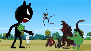 Godzilla vs Shin Godzilla - HULK: Blue Cartoon Cat CORONAVIRUS [HD] | Godzilla Animation Cartoon