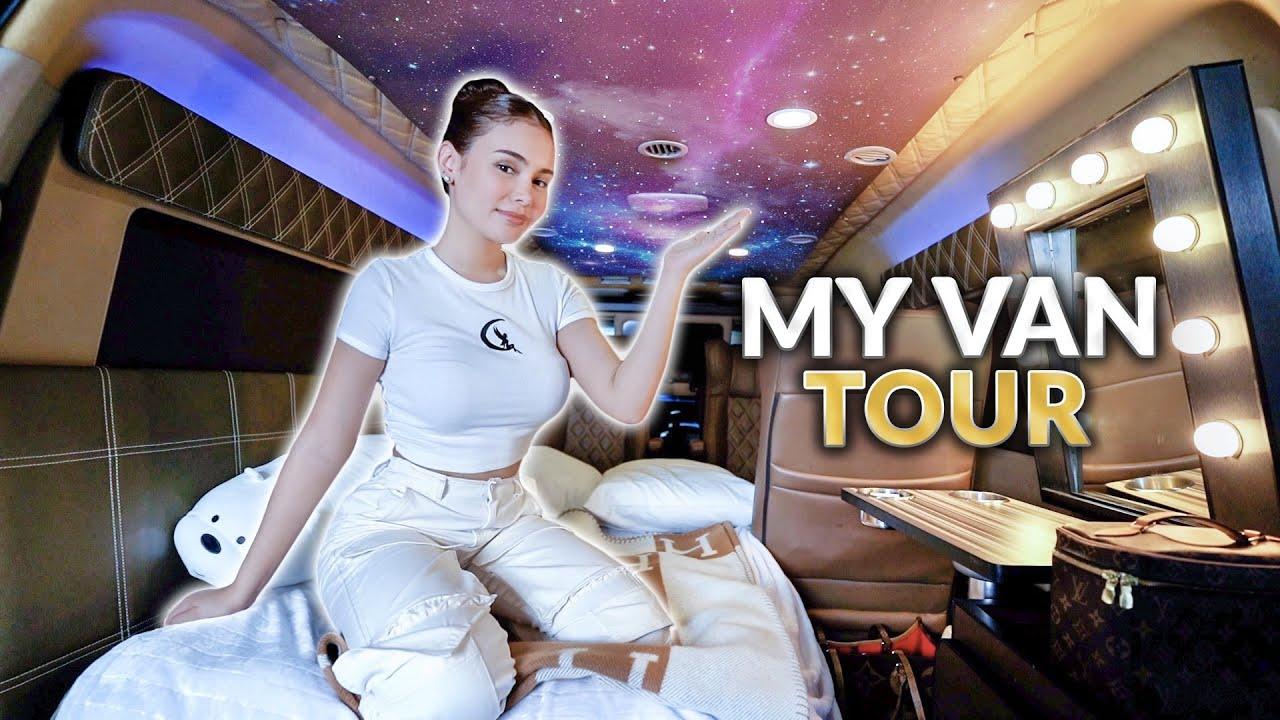 MY VAN TOUR! *WHAT'S INSIDE MY VAN* | IVANA ALAWI
