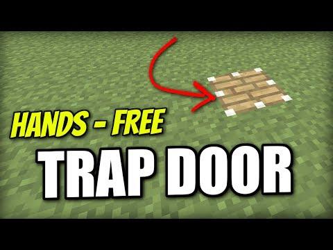 Minecraft PS4 - HANDS FREE TRAP DOOR  - Redstone Tutorial - PE / Xbox / PS3 / Wii U