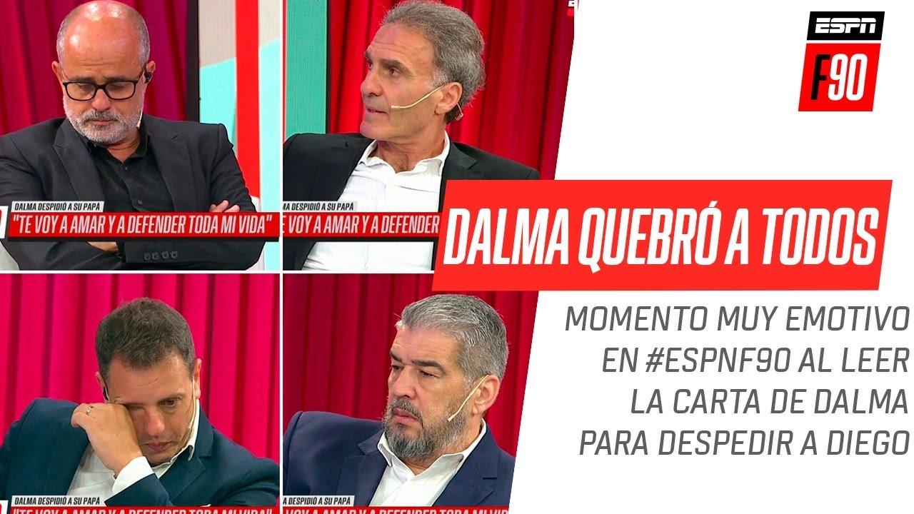 El Pollo #Vignolo leyó la carta de despedida de #Dalma en #ESPNF90 y se quebraron todos