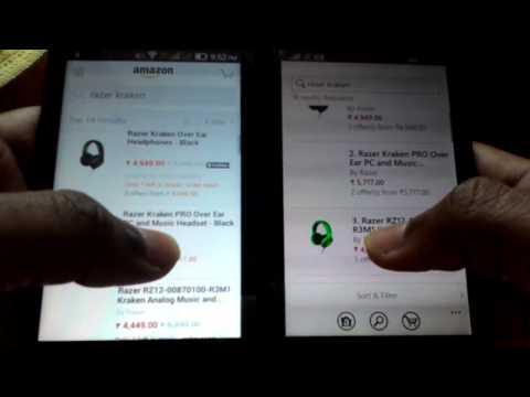 74) Amazon app-windows phone vs android