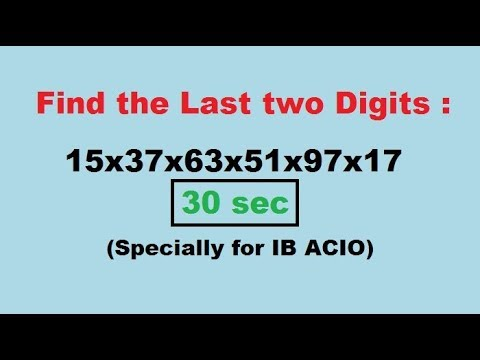 How to Find the last two digits of Long Multiplication