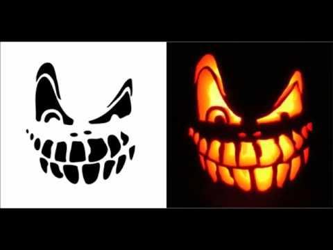 Halloween Pumpkin Carving Patterns Ideas Stencils & Templates free Download