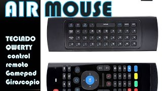 AIR MOUSE TECLADO QWERTY control remoto Gamepad - Giroscopio REVIEW EN ESPAÑOL LATINO
