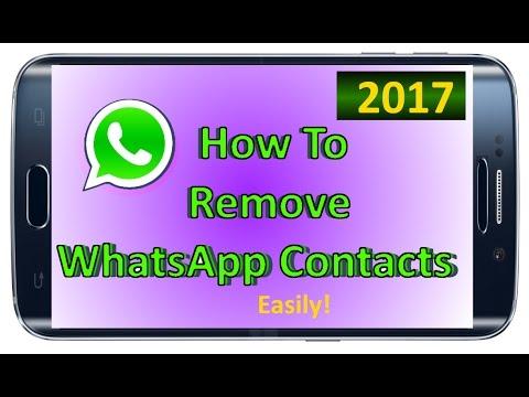 🔴🔴 How to | Delete WhatsApp Contact | Remove WhatApp Contact | WhatsApp contact delete 2017