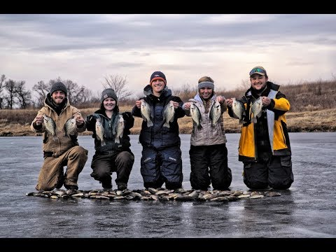 Catching MONSTER Crappie! UNREAL Day Ice Fishing!