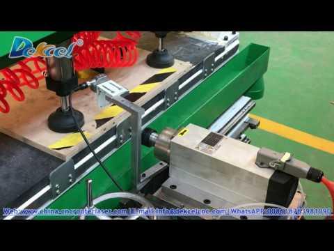 Dekcel MDF wood furniture plate side hole drilling cnc router machine