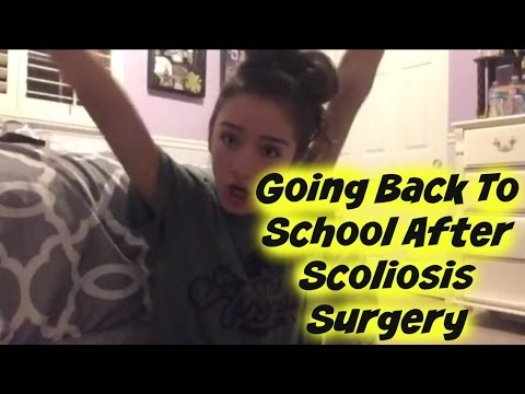 Going Back to School after Scoliosis Surgery- Scoliosis Sunday