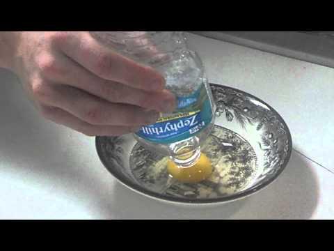 How to easily  remove egg yolk from egg.
