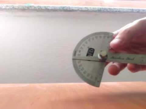 GEARBEST THD Stainless Steel Protractor Goniometer Measuring Tool