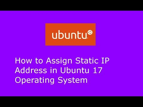 How to assign Static IP Address in Ubuntu 17.04