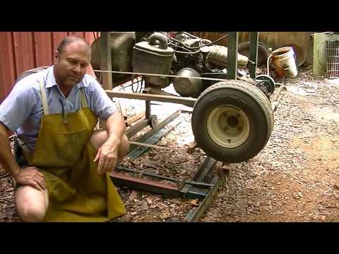 How to make a sawmill blade sharpener useing a side grinder. Works great