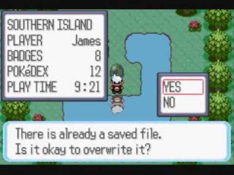 Pokemon ruby Southern island