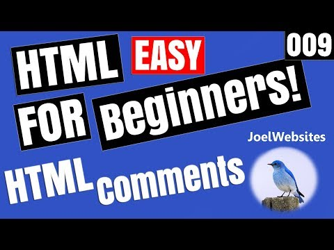 009 - HTML Tutorial for Beginners - HTML  Comments with Example