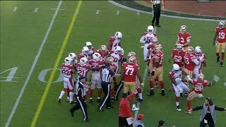 Late Hit On C.J. Beathard Causes Fight With 3 Ejections | Cardinals vs 49ers | NFL