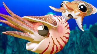 CUTTLEFISH vs NEW CHAMBERED NAUTILUS - Feed and Grow Fish - Part 58 | Pungence