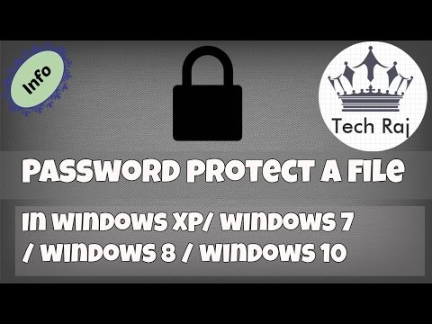 How to Protect a File or Folder with Password in Windows XP/7/8/10