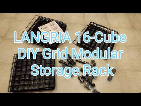 LANGRIA DIY 16-Cube Metal Wire Storage Cubes