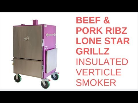 Pork and Beef Ribs on Lone Star Grillz Insulated Cabinet Smoker