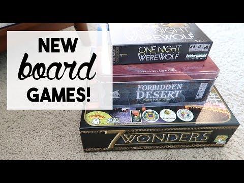 NEW BOARD GAMES!!   April 25, 2018