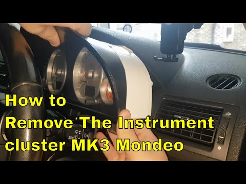 How to remove the Instrument Cluster from a mk3 mondeo (2000 - 2007)