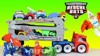 The BEST Transformers Rescue Bots Adventures! Optimus Blades Chase & Bumblebee!!