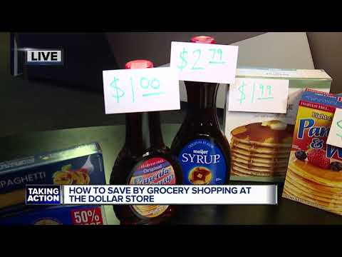 How to save by grocery shopping at the dollar store