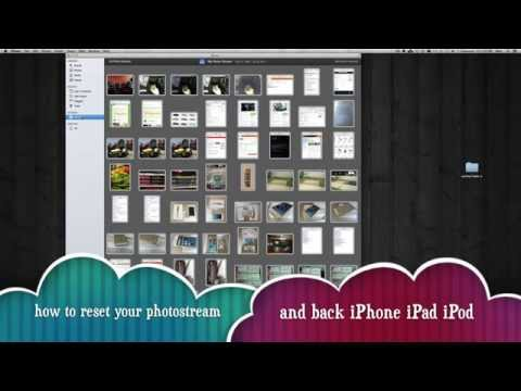Resetting Photostream and backup photostream tutorial