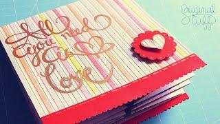 Hola :), hoy tenemos el 2do video de este #EspecialSanValentín2016 :D espero les guste la idea y si quieren diseños con temática romántica para descargar, aquí les dejo el link de nuestro album n_n: http://bit.ly/OSD-HojasScrapbook __  REDES SOCIALES Original Stuff:  OS Facebook: http://bit.ly/OSFacebook  OS Twitter: http://bit.ly/OStwitter  OS Instagram: http://bit.ly/OSInstragram  OS Pinterest: http://bit.ly/OSPinterest  REDES SOCIALES Alice Wisdom (Mis ilustraciones, dibujos, etc):  AW Facebook: http://bit.ly/AWDesigns  AW Instagram: http://bit.ly/AWInst  __  CONTACTO:  Dudas, sugerencias y mi correo: harley@originalstuff.mx  _______