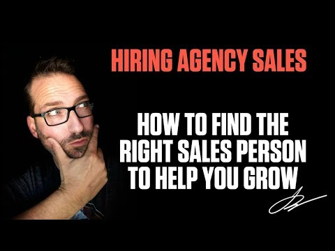 HOW TO FIND THE RIGHT AGENCY SALES PERSON TO HELP YOU GROW | SwenkToday #102