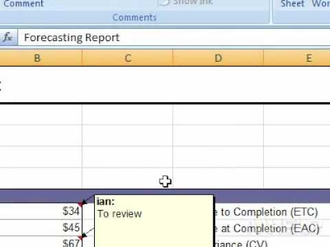 How to show all comments in a workbook Excel