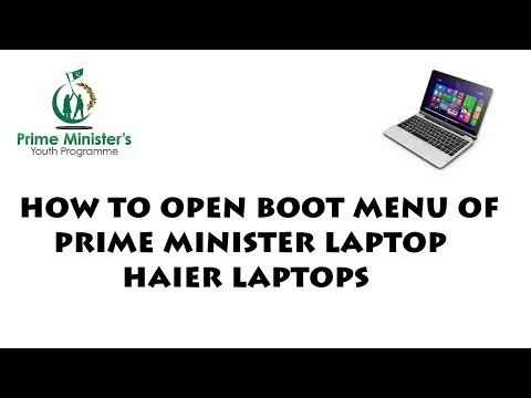 How to enter into Boot Menu in Prime Minister Laptop Haier in 5 mins
