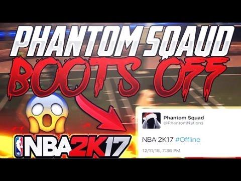 PHANTOM SQUAD BOOTS NBA 2K17 SERVERS OFFLINE | RIP 2K SERVERS AND MORE ATTACKS TO COME!