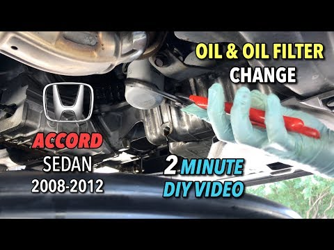 Accord Sedan Oil & Oil Filter Change - 2008-2012 -  2 Minute DIY Video
