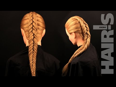 How to do an inverted fishtail braid hairstyle - video tutorial (How-to) Hair's How.