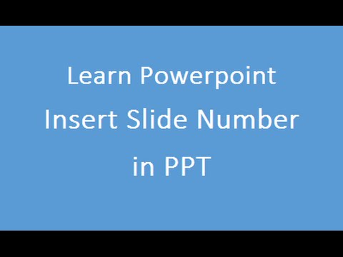 Insert A Slide Number In PowerPoint Presentation