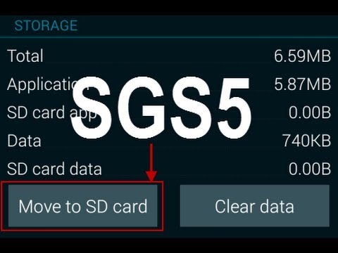 Samsung Galaxy S5: How to Move Apps To Micro SD Card