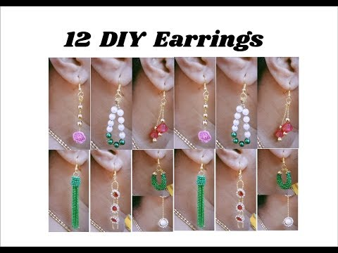 12 DIY designer earrings | Making with ball chain