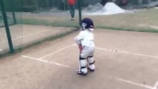 Shayan Jamal   Practise Session at the age of 3. Youngest Cricket in the World.