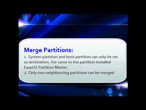 Resize/merge/move partitions with EaseUS Partiton Master Professional.mp4