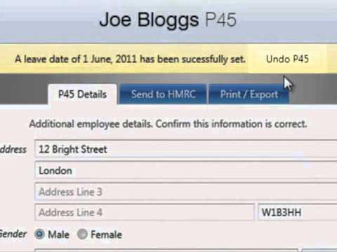 BrightPay Payroll Software UK: Reversing a P45