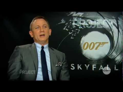 Daniel Craig interview on The Project (2012) - Skyfall