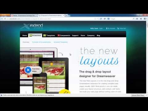 How to Add a Dreamweaver Extension to WebSite
