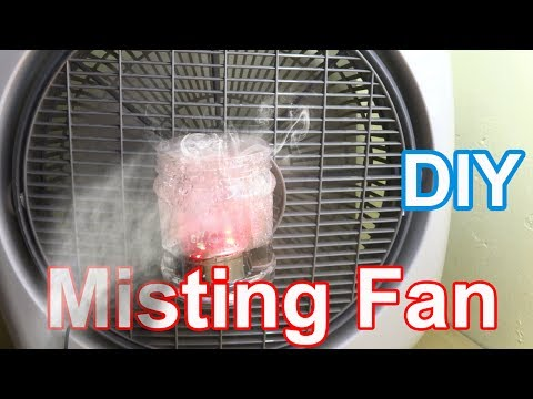 Make Misting Fan at home - Diy air conditioner fan very simple