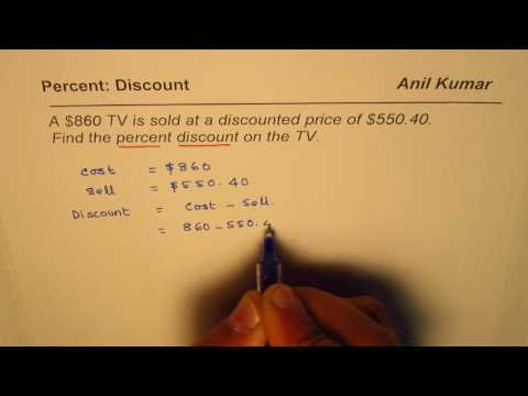 How to find percent discount from cost and selling price
