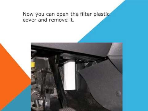 How to replace the air cabin filter dust pollen filter on a Ford Kuga