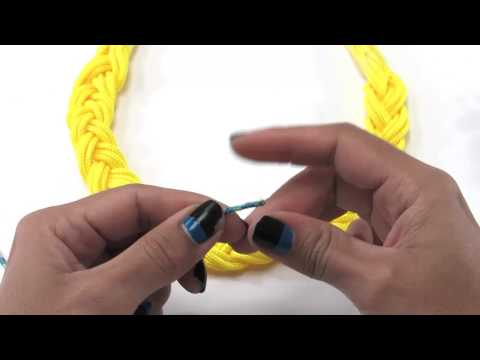 How to make a braided paracord necklace