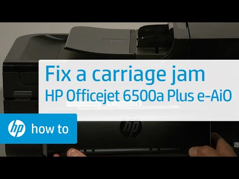 Fixing a Carriage Jam - HP Officejet 6500a Plus e-All-in-One Printer (E710n)